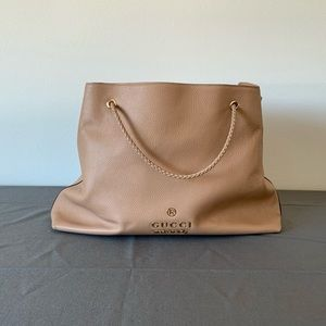 Large Gucci Shoulder Bag with Braided Straps